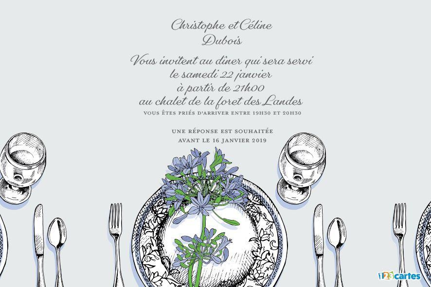 la table est dressée – invitation à dîner