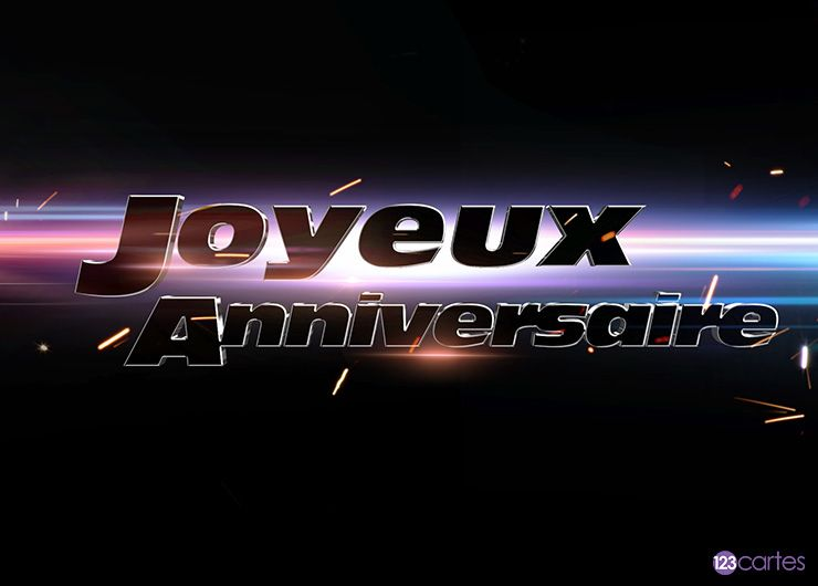 Fast and furious – carte anniversaire