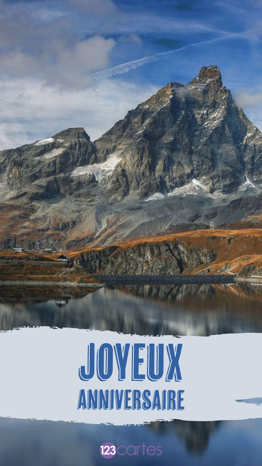 Montagnes – cartes anniversaire pour smartphone