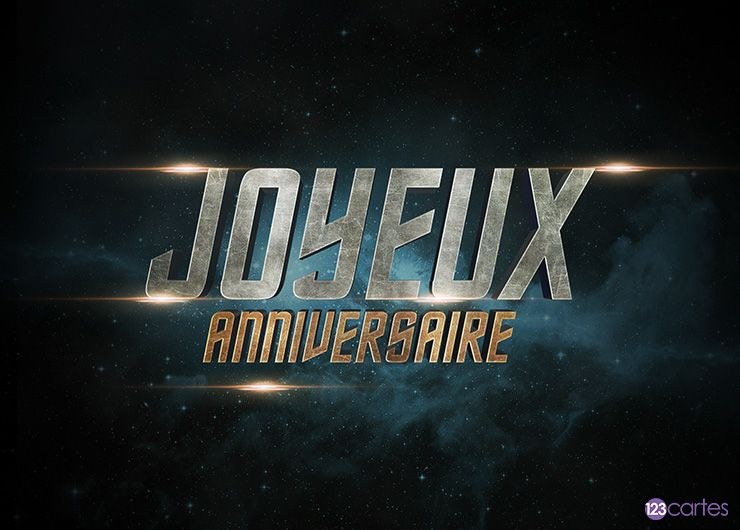 Star trek – carte anniversaire