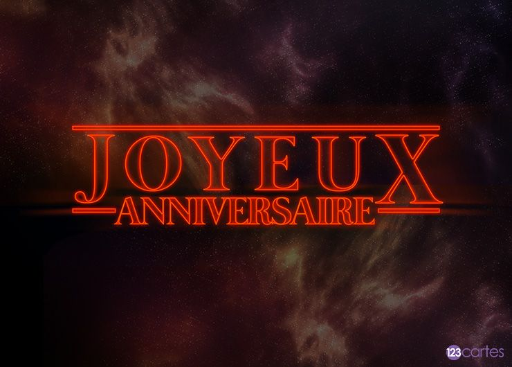 Stranger things – carte anniversaire