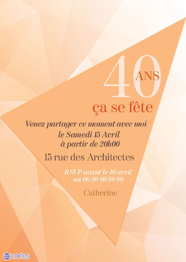 Cartes Invitations Anniversaire Adultes Gratuit 123cartes