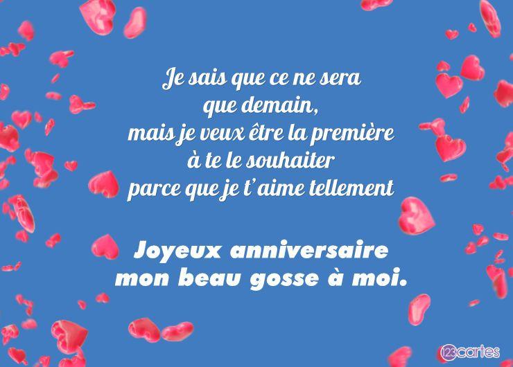 pétales de cœurs et joli texte d'amour pour souhaiter joyeux anniversaire pour ados